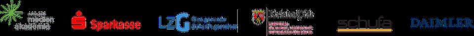 Clea Buttgereit - Beratung - Training - Coaching - Organisationsentwicklung - Logos von medien akademie, Sparkasse, LZG, Miisterium Rheinland Pfalz, schufa und Daimler
